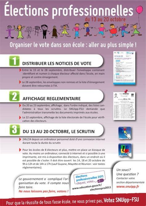 bureau de vote ections professionnelles élections professionnelles organisation du vote dans les