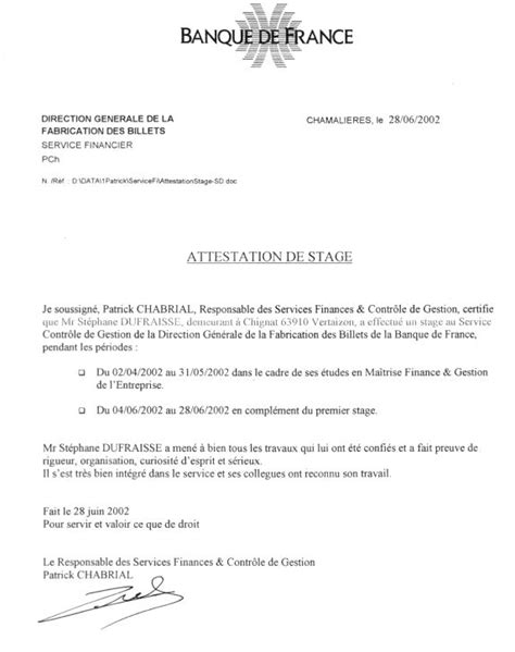 modele attestation de stage word pin attestation de stage insa claude pin on