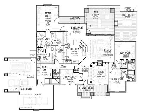casa floor 3 bedroom craftsman house desgin