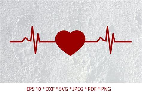 heartbeat svg  heart beat svg  cut files