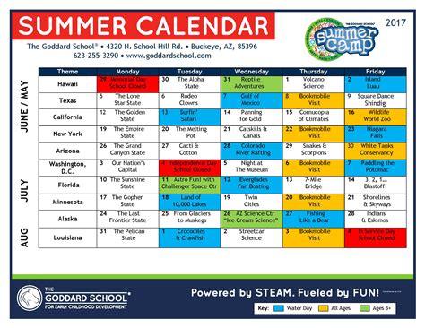 summer camp buckeye buckeye az 861 | 2017 Goddard School Buckeye Summer Camp Calendar