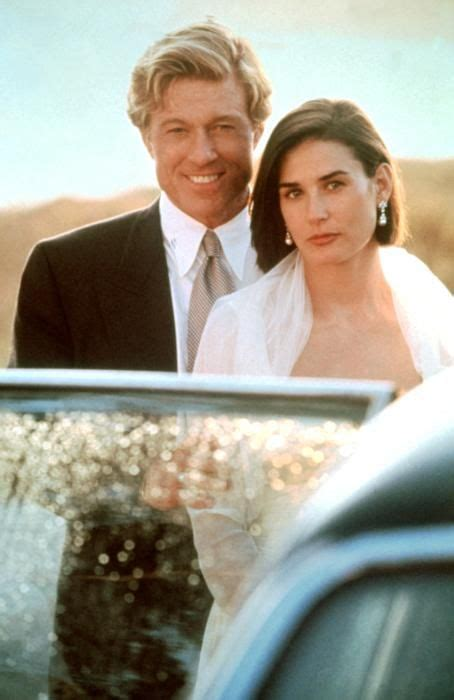robert redford demi moore film robert redford and demi moore on the set of indecent