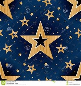 Gold Star Good Night Seamless Pattern Stock Vector - Image ...