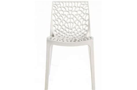 chaise plexi pas cher chaise design blanche opaque filet design sur sofactory