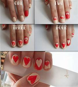 Very Easy Valentine's Day Nail Art Tutorials 2014 For ...