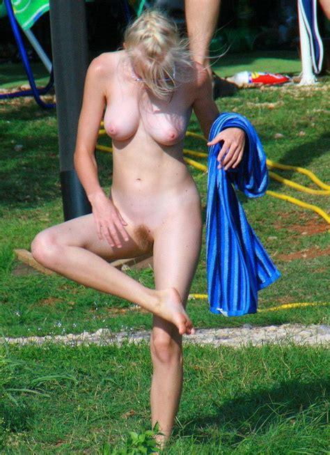 Lesbians Sunbath Topless