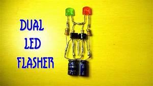 Dual Led Flasher Circuit Using Transistor