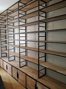 Bibliothèque Métal Et Bois : blog de la maison de l 39 imaginarium l 39 ambiance factory 100 sur mesure biblioth que m tal ~ Teatrodelosmanantiales.com Idées de Décoration