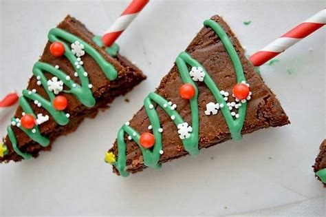 brownies de navidad  disfrutar  los mas peques
