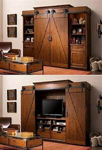 17 best ideas about entertainment units on pinterest tv With barn door entertainment unit