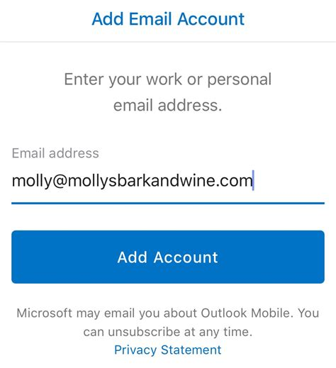 how to add email account to iphone outlook app on iphone set up email business