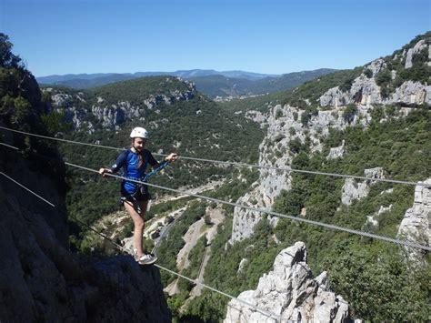 entre2nature canyoning escalade via ferrata herault gard