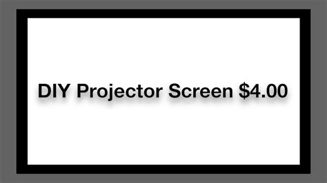 diy projector screen   youtube