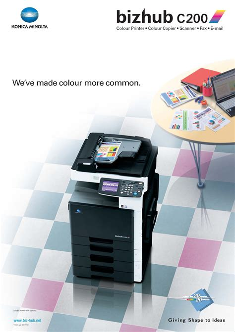 Konica minolta bizhub c224e multifunction color and black and white photocopier with print and copy speeds of up to 22 pages per minute so that it can increase. Bizhub C200 Poster Konica Minolta Color Printer Make Color