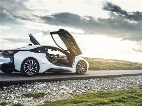 Bmw I8 Side View Cool Wallpaper
