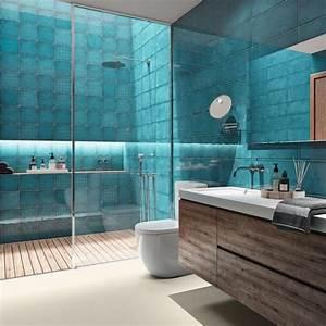 Carrelages Salle De Bain : panorama des nouveaux carrelages de salles de bains c t ~ Melissatoandfro.com Idées de Décoration
