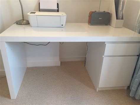 ikea malm bureau ikea white malm desk excellent condition in finsbury