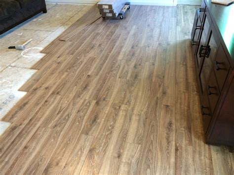 lowes flooring driftwood floor coming along lowe s allen roth driftwood oak laminate in my ryan home palermo model