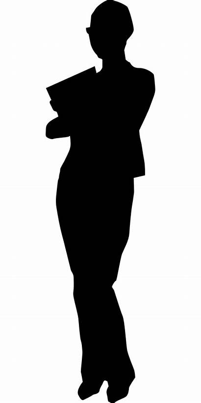 Silhouette Woman Secretary Assistant Office Career Src