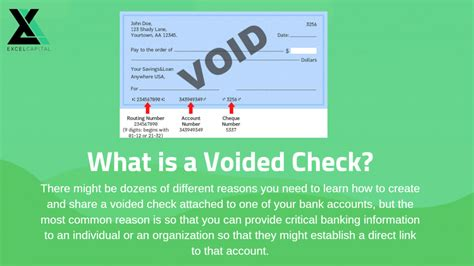 voided check definition  examples excel