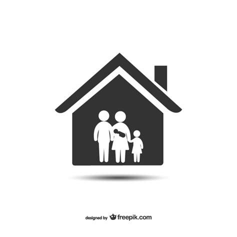 symbol familie haus und familie symbol der kostenlosen vektor