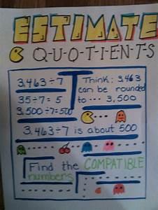Estimate Quotients Anchor Chart Multiplication Division