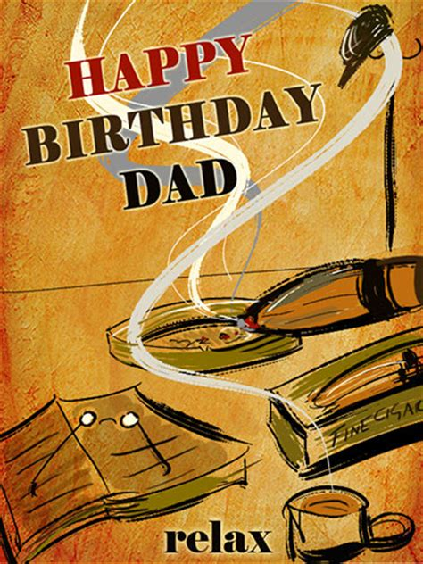happy birthday dad   fine cigar   mom dad