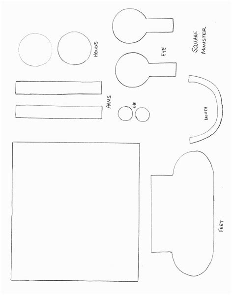 Template Mosnter Shape Crafts All Network