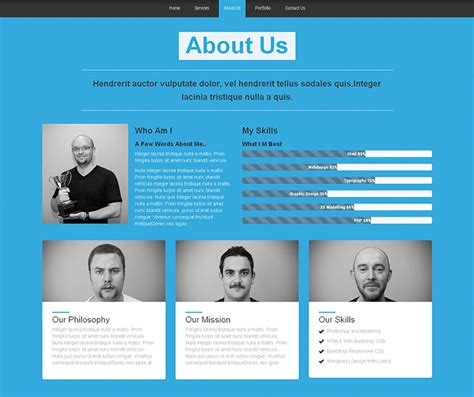 single page website templates web graphic