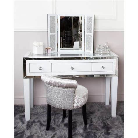 white manhattan mirror 3 drawer dressing table mirror