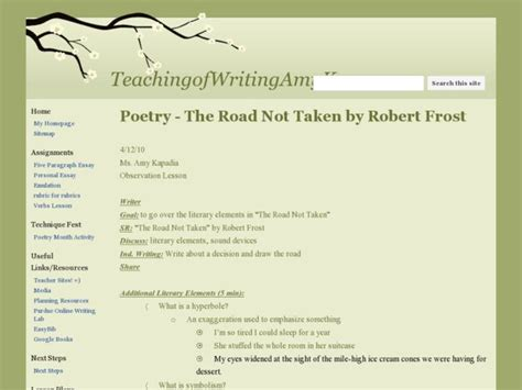 poetry the road not taken by robert frost lesson plan