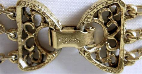vintage signed goldette intaglio  strand pendant necklace