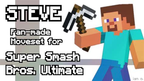 steve fan  moveset  super smash bros ultimate