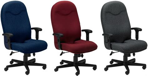 mayline ergonomic fabric office chair with coccyx cut out
