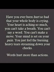 Sometimes words hurt more than actions | Pearls of Wisdom ...