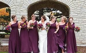 Kleid Koralle Hochzeit : bodenlange one shoulder kleider in pflaume die perfekte hochzeit hochzeit brautjungfer kleid ~ Orissabook.com Haus und Dekorationen