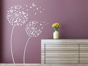 Wandtattoo Pusteblume Weiß : wandtattoo schmetterlingsblumen als pusteblume ~ Frokenaadalensverden.com Haus und Dekorationen
