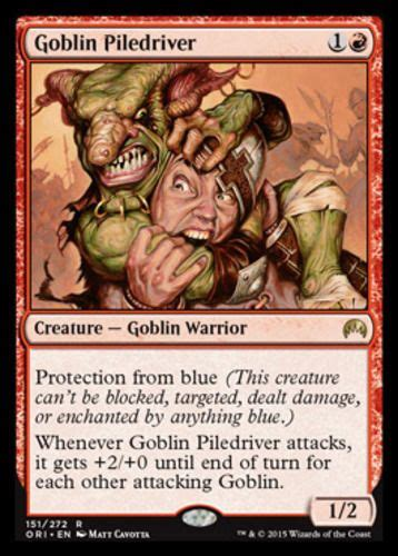goblin piledriver x1 magic the gathering 1x magic origins