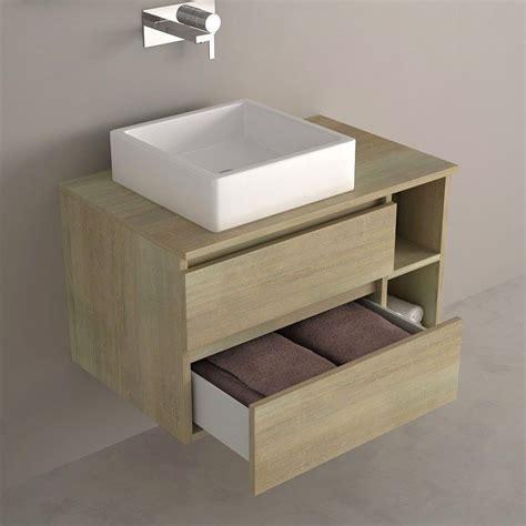 meuble pour vasque a poser meuble de salle de bain clair avec tiroirs