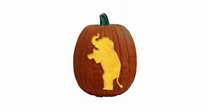 Pumpkin Elephant Carving Republican Pattern Patterns Vote