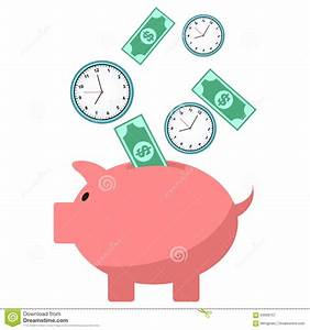Saving Time And Money Concept Stock Vector - Image: 63096757