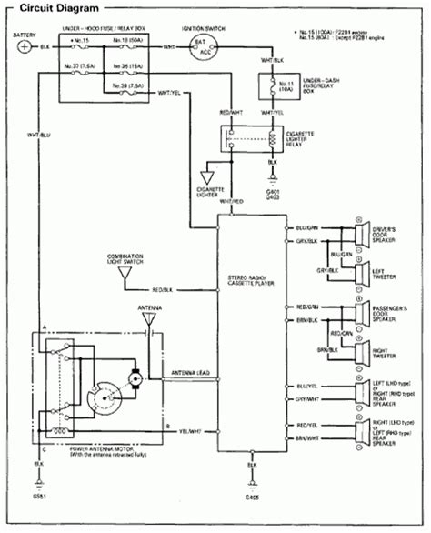 Inside Fuse Box Diagram For 1997 Honda Accord by 2001 Honda Accord Lights Wiring Diagram Fuse Box