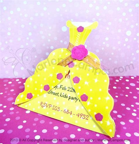 princess belle invitation inspired beauty   beast