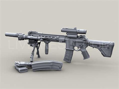 heckler koch hk modular assault rifle  geissele super modular rail   long short