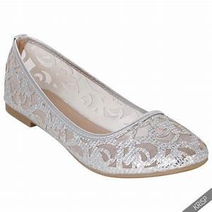 Women Glitter Ballerina Shoes Slip On Ballet Dolly Pumps ...