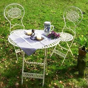 Gartentisch Mit 2 Stühlen : romantisch sch ne gartenm bel h bscher tisch mit 2 st hlen meran ~ Frokenaadalensverden.com Haus und Dekorationen