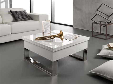 Table Basse Blanc Laqué Relevable Extensible Latablebasse