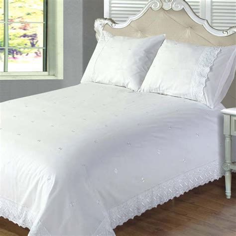 victoriana white broderie anglaise duvet sets bedding