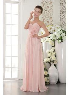 beautiful chiffon pearl pink prom gown  imgst