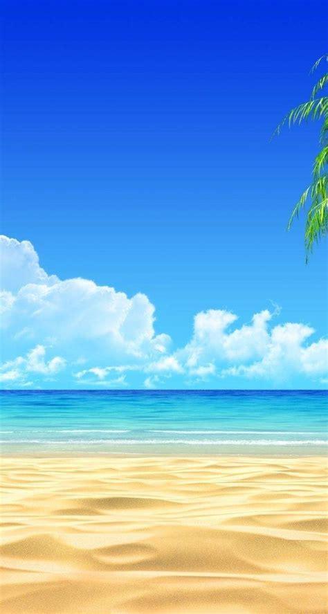 background keren pemandangan pantai gambar viral hd